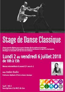 Stage danse classique @ MJC Gex