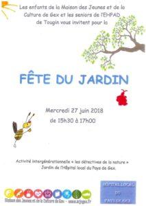Fête du jardin @ Hôpital local du Pays de Gex Tougin