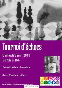 Tournoi d'échecs @ MJC Gex | Gex | Auvergne-Rhône-Alpes | France