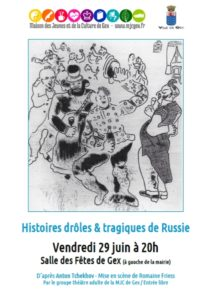 Histoires drôles et tragiques de Russie @ Salle des Fêtes | Gex | Auvergne-Rhône-Alpes | France