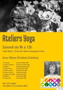 Atelier yoga du samedi @ Vertes Campagnes Gex