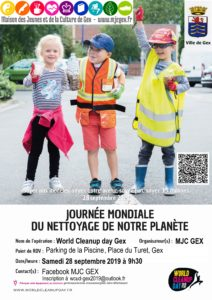 Samedi 28 septembre 2019 :  World Clean Up Day Gex