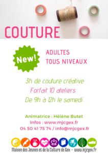 10 ateliers couture créative @ MJC GEX, salle des jeunes (rdc)